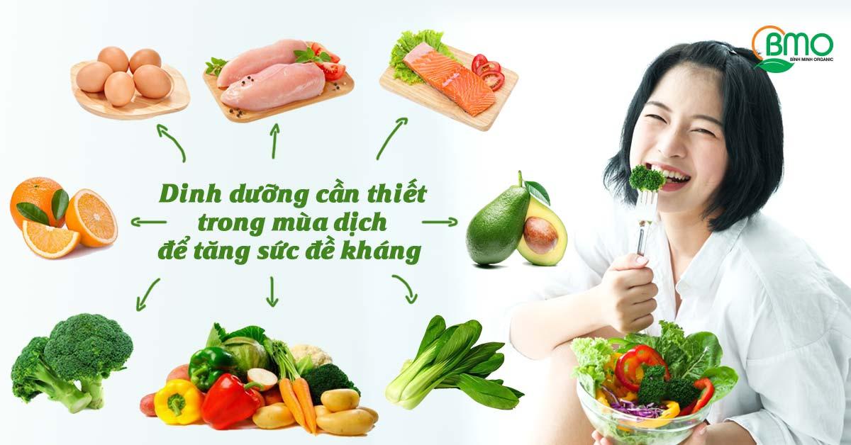 Bổ sung dinh dưỡng trong mùa dịch để tăng sức đề kháng